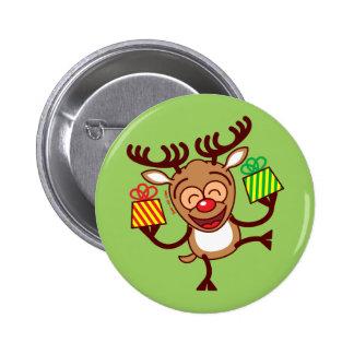 Reno del navidad que trae los regalos pins