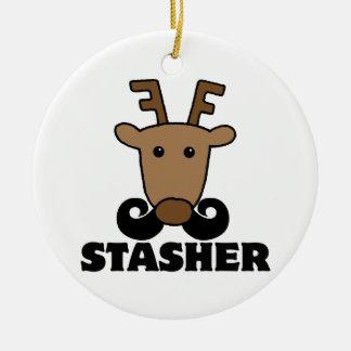 reno divertido del bigote del stasher del dasher adorno para reyes
