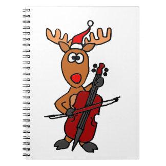 Reno divertido que juega navidad del violoncelo notebook