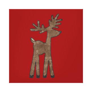 Reno dulce del navidad impresiones en lienzo estiradas