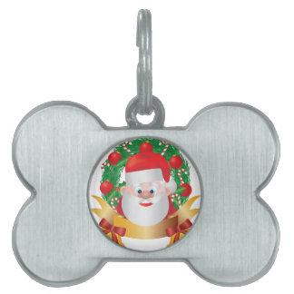 Reno en el ejemplo de la guirnalda del navidad placas mascota