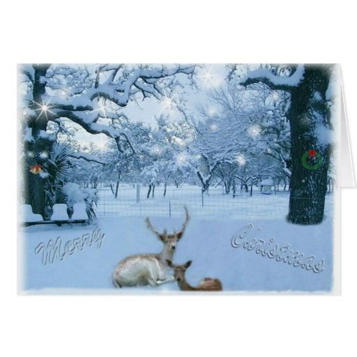 Reno en tarjeta de la nieve