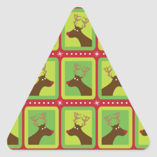 Reno festivo pegatina trianguloada