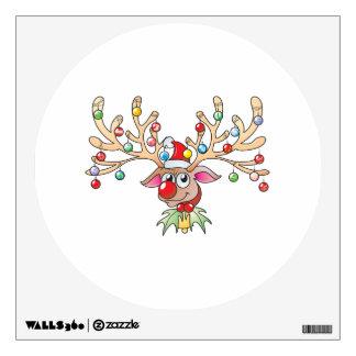 Reno lindo de Rudolf con las tarjetas de las luces