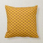 Reno lindo en el oro almohadas