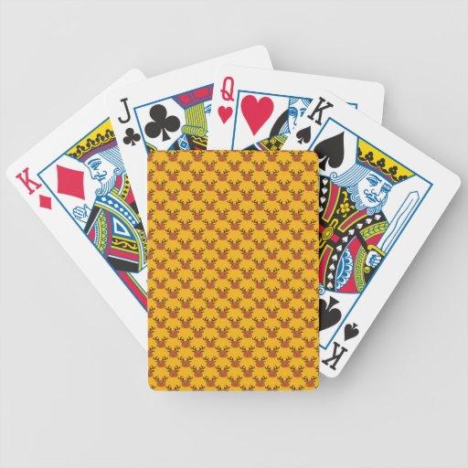 Reno lindo en el oro baraja cartas de poker