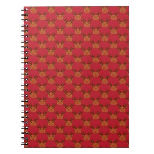 Reno lindo en rojo libros de apuntes