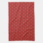 Reno lindo en rojo toallas de cocina