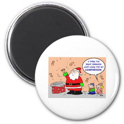 reno minúsculo del navidad ocho de Papá Noel Imanes