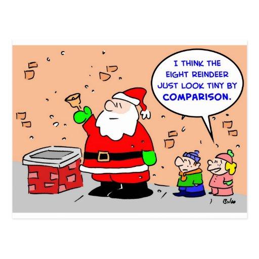 reno minúsculo del navidad ocho de Papá Noel Postales