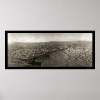 Reno nanovoltio de la foto 1908 del dirigible poster