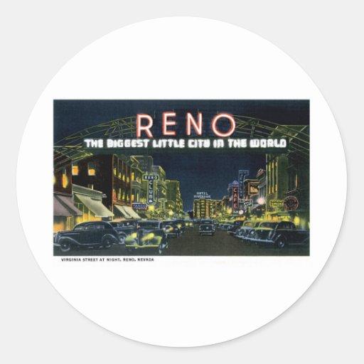 Reno, nanovoltio la pequeña ciudad más grande del pegatina redonda