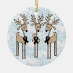 Reno negro de la cinta ornamentos de navidad