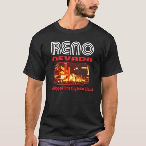 Reno Nevada Black T Shirt Zazzle