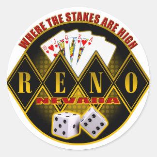 Reno, Nevada - donde están altas las Pegatina Redonda