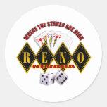 Reno, Nevada - donde están altos 2 las participaci Etiqueta Redonda