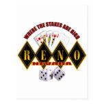 Reno, Nevada - donde están altos 2 las participaci Postales