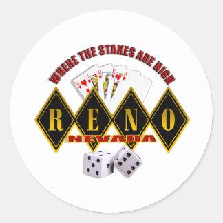 Reno, Nevada - donde están altos 2 las Pegatina Redonda