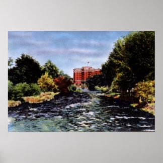 Reno Nevada el río Truckee Póster