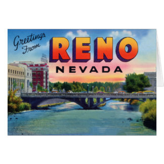 Reno Nevada Large Letter Greetings Card