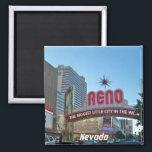 "Reno, Nevada Magnet<br><div class=""desc"">the biggest little city of the world,  Reno,  Nevada</div>"