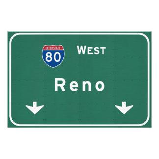 Reno Nevada nv Interstate Highway Freeway : Photo Print