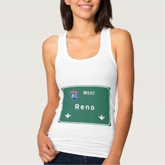 Reno Nevada nv Interstate Highway Freeway : Tank Top