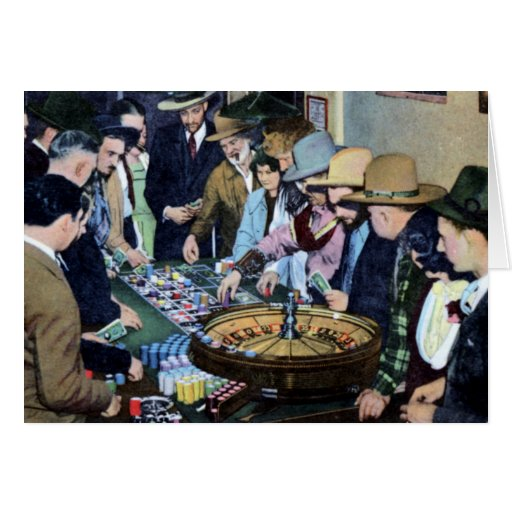 Reno Nevada Roulette Greeting Card