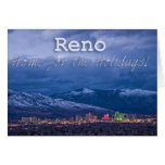 Reno Nevada sazona saludos Tarjeta De Felicitación