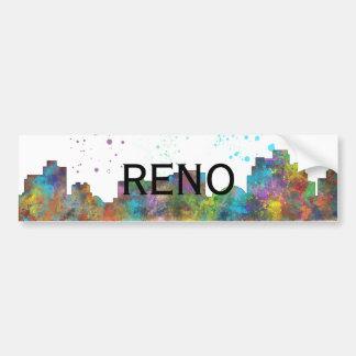 RENO, NEVADA SKYLINE BUMPER STICKER