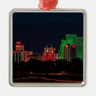 Reno Nevada Skyline Metal Ornament