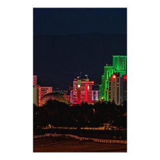 Reno Nevada Skyline Stationery