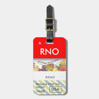 RENO, NEVADA SKYLINE WB1 - LUGGAGE TAG