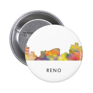 RENO, NEVADA SKYLINE WB1 - PINBACK BUTTON