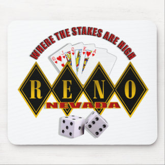 Reno, Nevada - Where The Stakes Are High 2 Mouse Pad