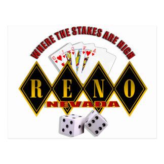Reno, Nevada - Where The Stakes Are High 2 Postcard