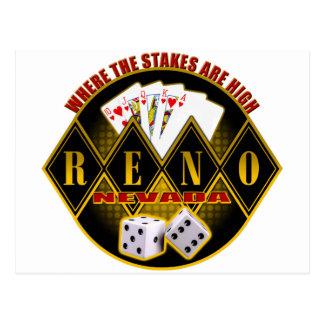 Reno, Nevada - Where The Stakes Are High Postcard