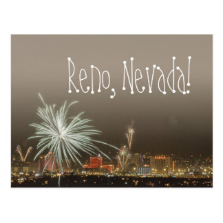 Reno New Year's Fireworks postcard