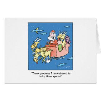 Reno plano del dibujo animado del navidad tarjeta de felicitación
