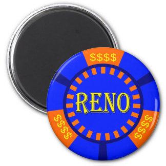 RENO POKER CHIP FRIDGE MAGNETS