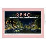 Reno retro tarjeta de felicitación