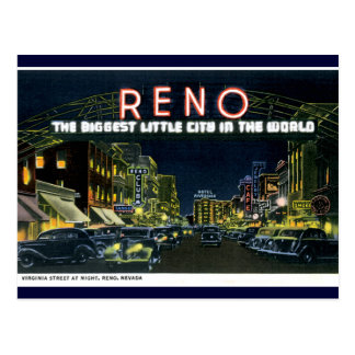 Reno retro tarjeta postal