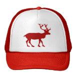 Reno rojo y blanco gorras
