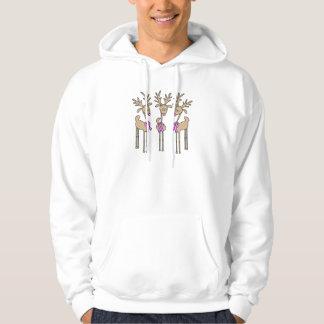 Reno rosado de la cinta - cáncer de pecho suéter con capucha