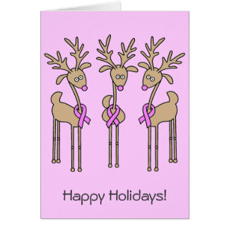 Reno rosado de la cinta - cáncer de pecho tarjeta