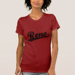 Reno script logo in black distressed tee shirts