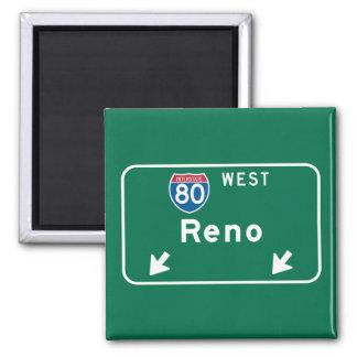 Reno, señal de tráfico del nanovoltio imán para frigorifico