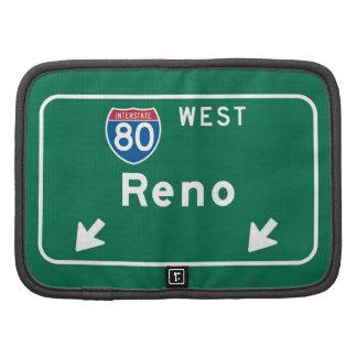 Reno, señal de tráfico del nanovoltio planificadores