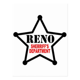 RENO Sherriff's Department Postcard