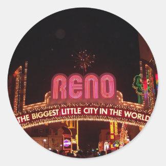 Reno Sign Classic Round Sticker